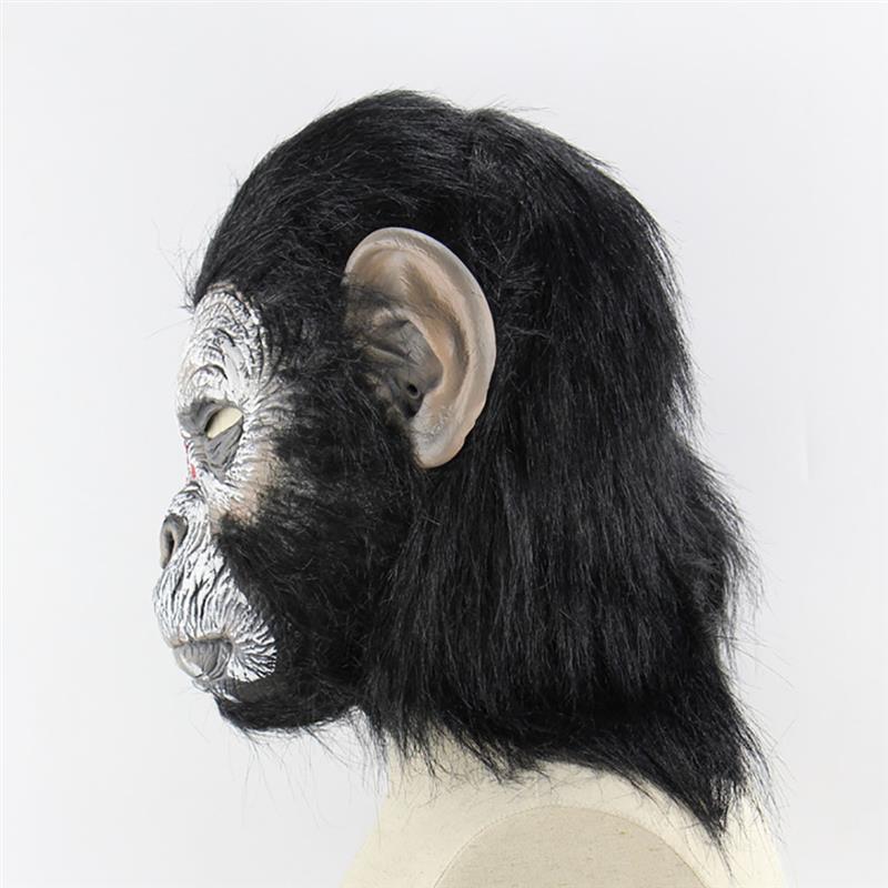 Маска для Хэллоуина Смешные орангутанг глава Новинка маска Хеллоуин костюм Маскарад Маска Голова маска - 6