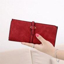 2016 Fashion Lady Bags Women Wallets Drawstring Handbags Leather Zipper Wallet Purse Long 2 Fold Clutch Card Holder