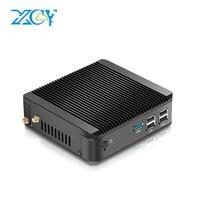 XCY мини-ПК Windows 10 Linux Intel Celeron J1900 J1800 Gigabit LAN Wifi мощный minipc Barebone безвентиляторный для HDMI HTPC VGA