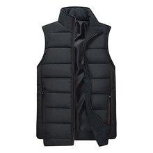 2019 Мужская зимняя теплая куртка без рукавов мужская пуховая жилетка мужская теплая Толстая куртка с капюшоном мужская хлопковая стеганая Рабочая жилетка 3XL