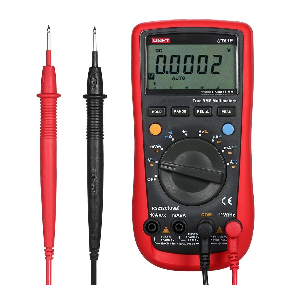 UT61E Digital Multimeter ESR Meter True RMS Multimeters AC/DC Voltage Current Meter Diode Circuit Continuity Capacitance Tester
