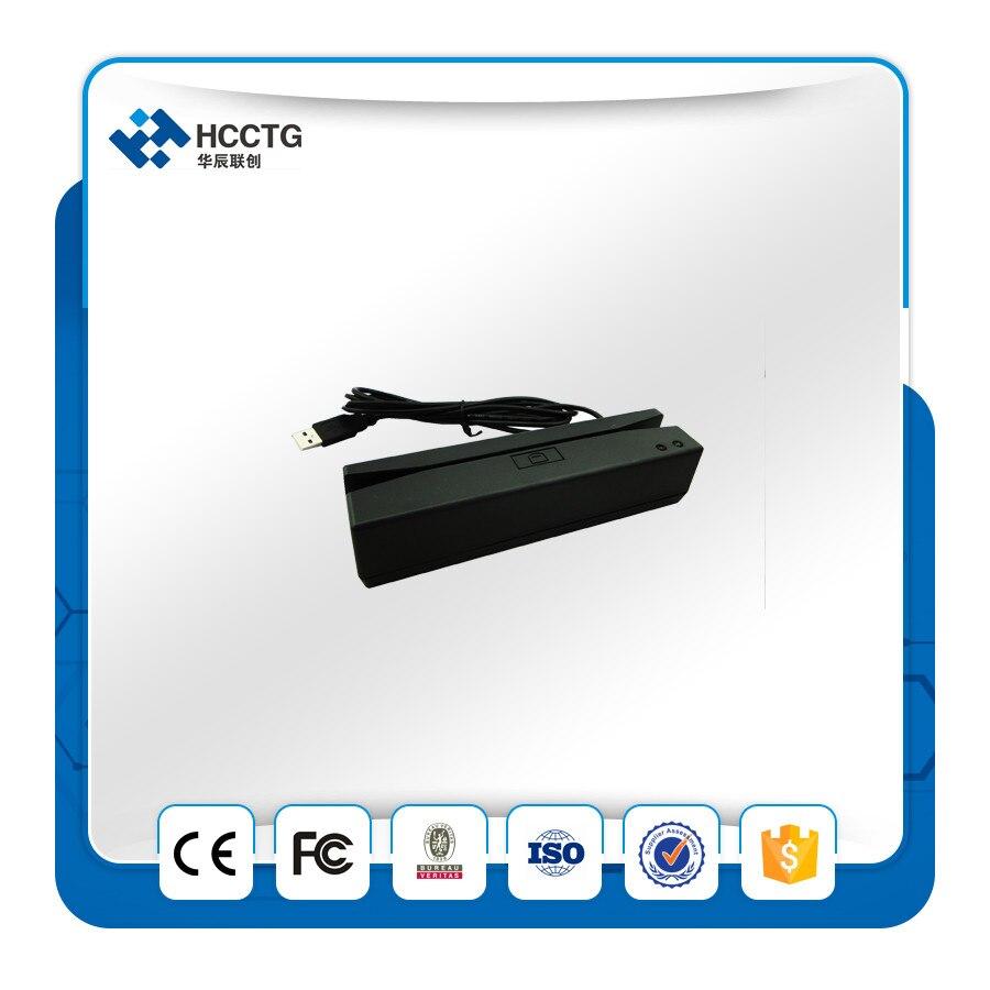 Lecteur de crédit USB Portable à 3 voies avec carte magnétique/bande-HCC720