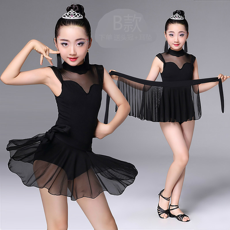 latin dance wear for girls latin salsa dress ballroom tango dresses kids spandex Ruffle Skirt Children Kids Dancing 2018 rumba