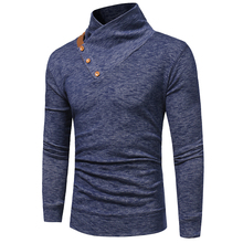 New Arrivals style tops fashion brand Sweater men casual pullovers solid color turtleneck cultivation knitting sweater XXXL