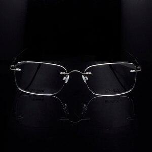 Image 5 - Titanium Eye Glasses Frame for Men  Frameless Rimless Glasses Optical Frame Eyeglasses Women High Quality Square Spectacles