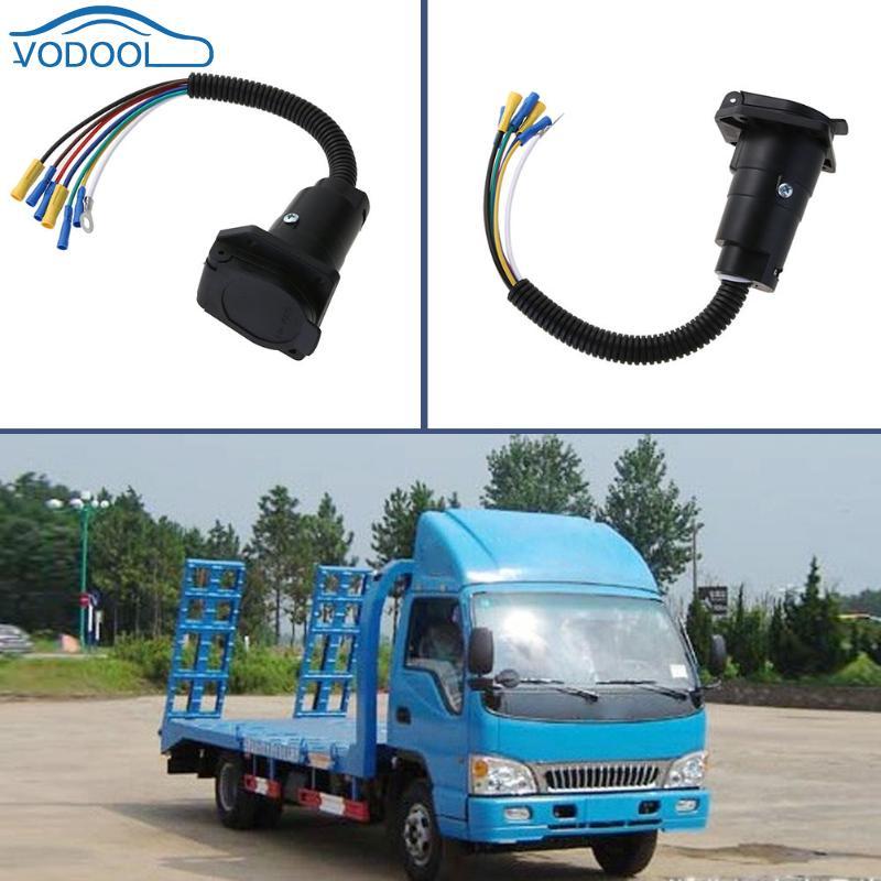12V 7 Way 7pin RV Trailer Light Custom Socket Wire Harness Converter ...