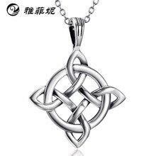 Продукт, ожерелье из стерлингового серебра 925 пробы для мужчин и женщин в США, подвеска с кельтским узлом, ювелирные изделия на заказ