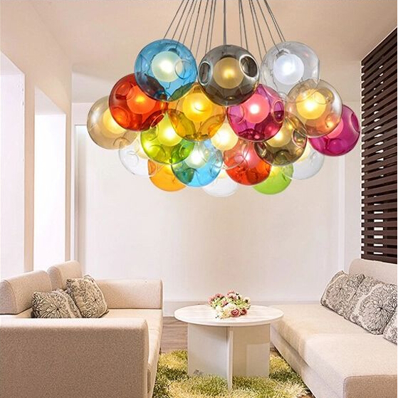 Modern led glass pendant chandelier lights for living dining room bedroom shop decoration glass G4 led hanging chandelier lamp a1 master bedroom living room lamp crystal pendant lights dining room lamp european style dual use fashion pendant lamps