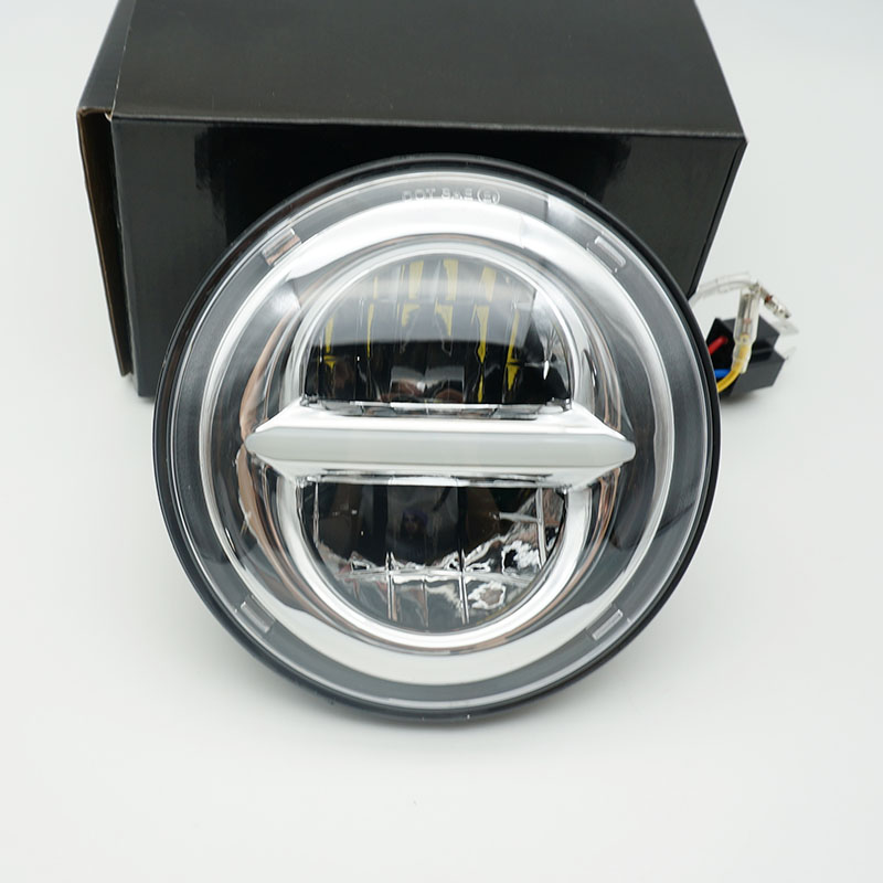 5.75 inch H4 LED Daymaker headlight for Harley sportster Touring - Super Glide Dyna Sportster 5 3/4'' motorcycle headlamp 5 75 inch daymaker led motorcycle headlight projector lens faro moto for harley led 5 3 4 headlight round headlamp motorcycle