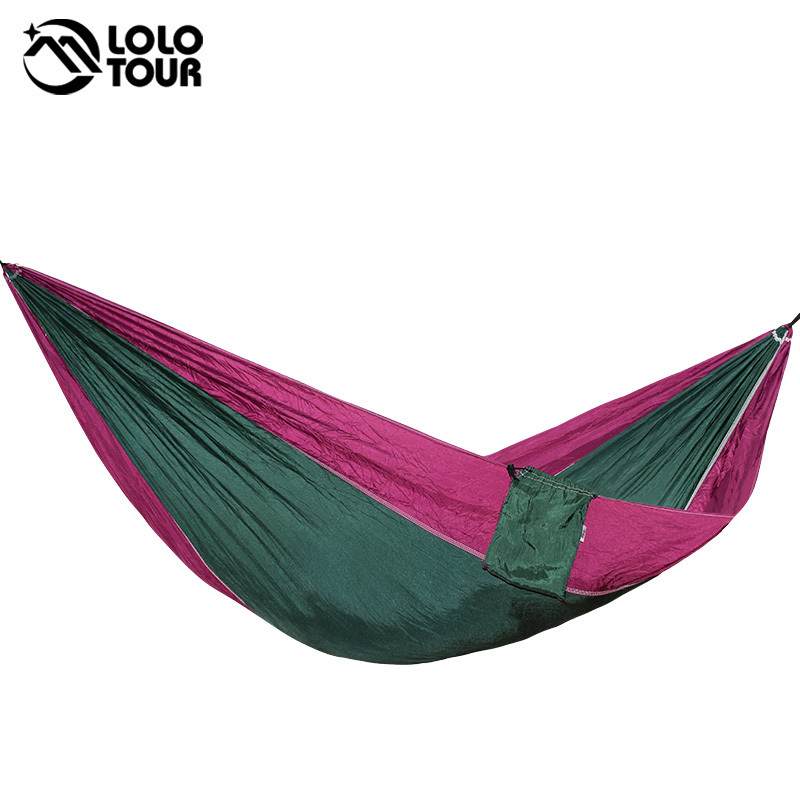 Outdoor Hanging Parachute Hammock Swing Single Person Hamak Sleeping Tree Bed Backpacking Relax Nylon Fabric Folded Hamac outdoor double hammock portable parachute cloth 2 person hamaca hamak rede garden hanging chair sleeping travel swing hamac
