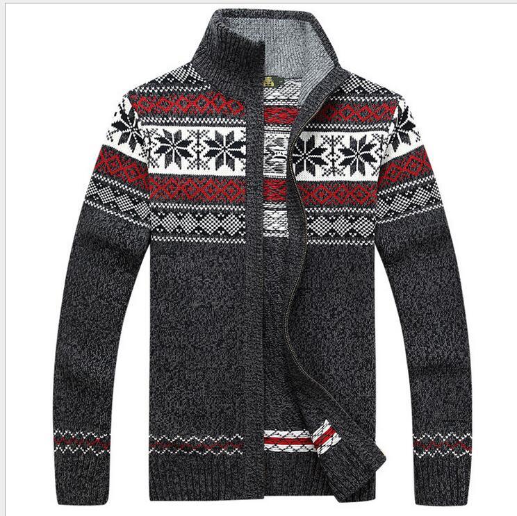 New Arrival Casual High Qualtiy Flower Cardigan Sweater Manufacturers Wholesale Price Men Thick Winter Fashion Size M-3XL