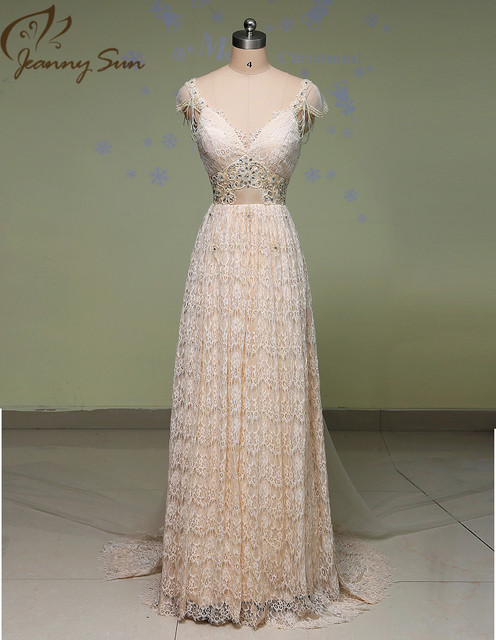 High Quality 2016 Vintage Wedding Dresses Sheer Lace Bridal Gowns Lace Backless Church Wedding Custom CH-753
