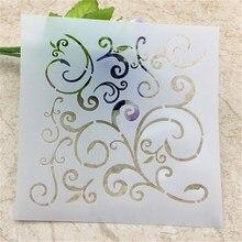1 Sheet Pattern Layering Stencils for DIY Scrapbooking/photo album Decorative Embossing DIY Paper Cards Crafts