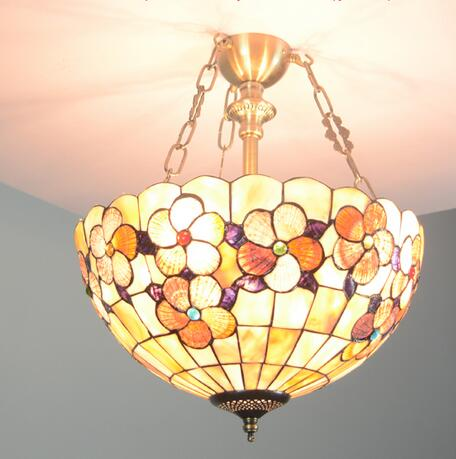 European Mediterranean art pendant lamps entrance Flowers balcony garden aisle colorful warm Tiffany creative Pendant Lights tiffany restaurant in front of the hotel cafe bar small aisle entrance hall creative pendant light mediterranean df66