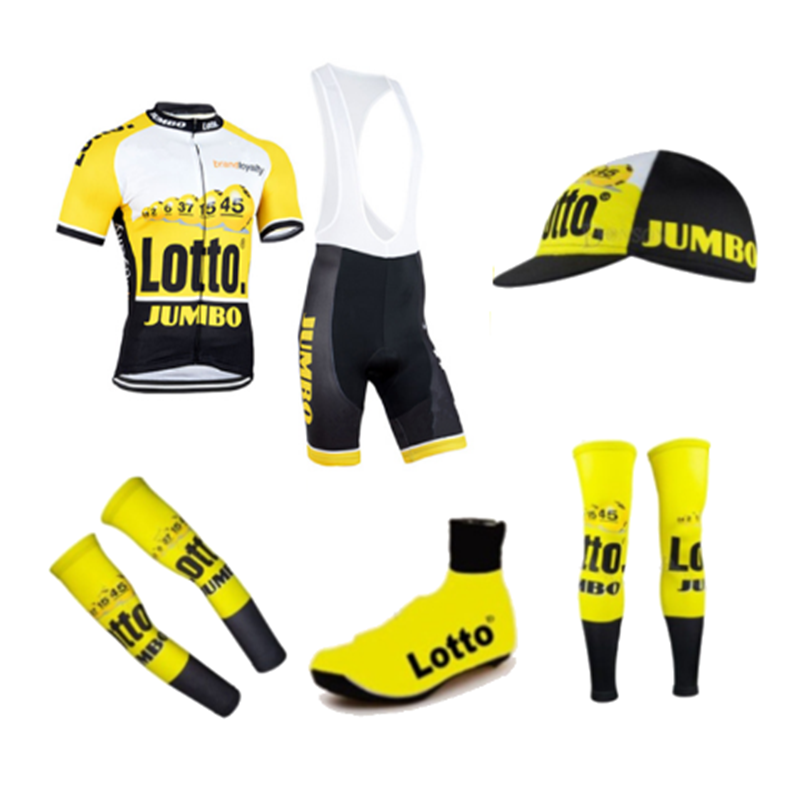 Team Lotto 2018 Pro Jumbo 6 Pieces Full Set Cycling Jersey Short Sleeve  Quickdry Bicycle Clothing 8af561685