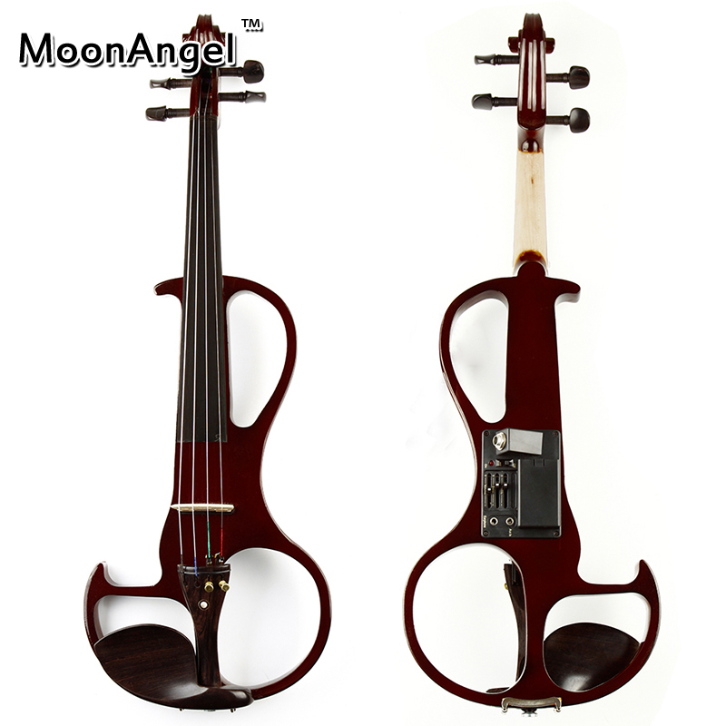 4/4 Brown ABS Electric Violin Musical Instruments Good Quality Stringed Instrument Suitable for Beginners and Music Amateurs 4 4 electric acoustic violin basswood fiddle with violin case cover bow rosin for musical stringed instrument lovers beginners