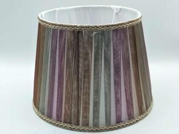 E27 abat-jour pour lampe de table chambre abat-jour de couleur ronde abat-jour en tissu