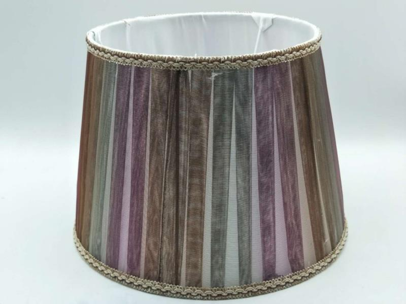 E27 lamp shade for table lamp bedroom lamp shade round colour fabric shade