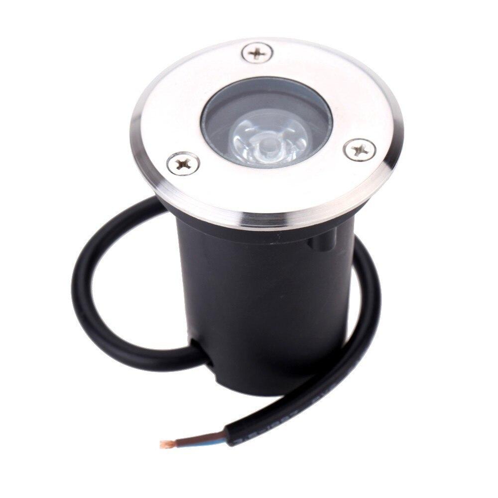 1X Waterproof AC 220V 110V 1W 3W LED Underground Light Inground Lamp Buried Lighting LED Outdoor Recessed Floor Ground Lamp