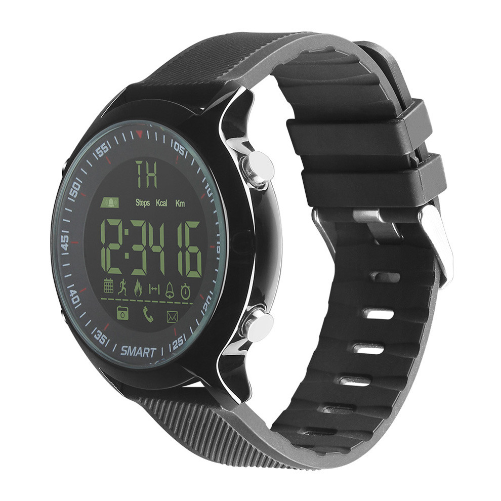 Smart Watch EX18 Electronic LED Waterproof 50m Bluetooth Mobile Phone Reminder SmartWatch Sports Pedometer Healthy Digital Watch