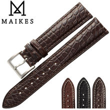 MAIKES Luxury Alligator Watch Band 18mm 19 20mm 22mm 21 24mm Genuine Crocodile Leather Watch Strap  Case For IWC OMEGA Longines iwc pilots watch