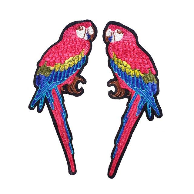 10 pares de patrones de pájaros bordado coser en apliques parches ...