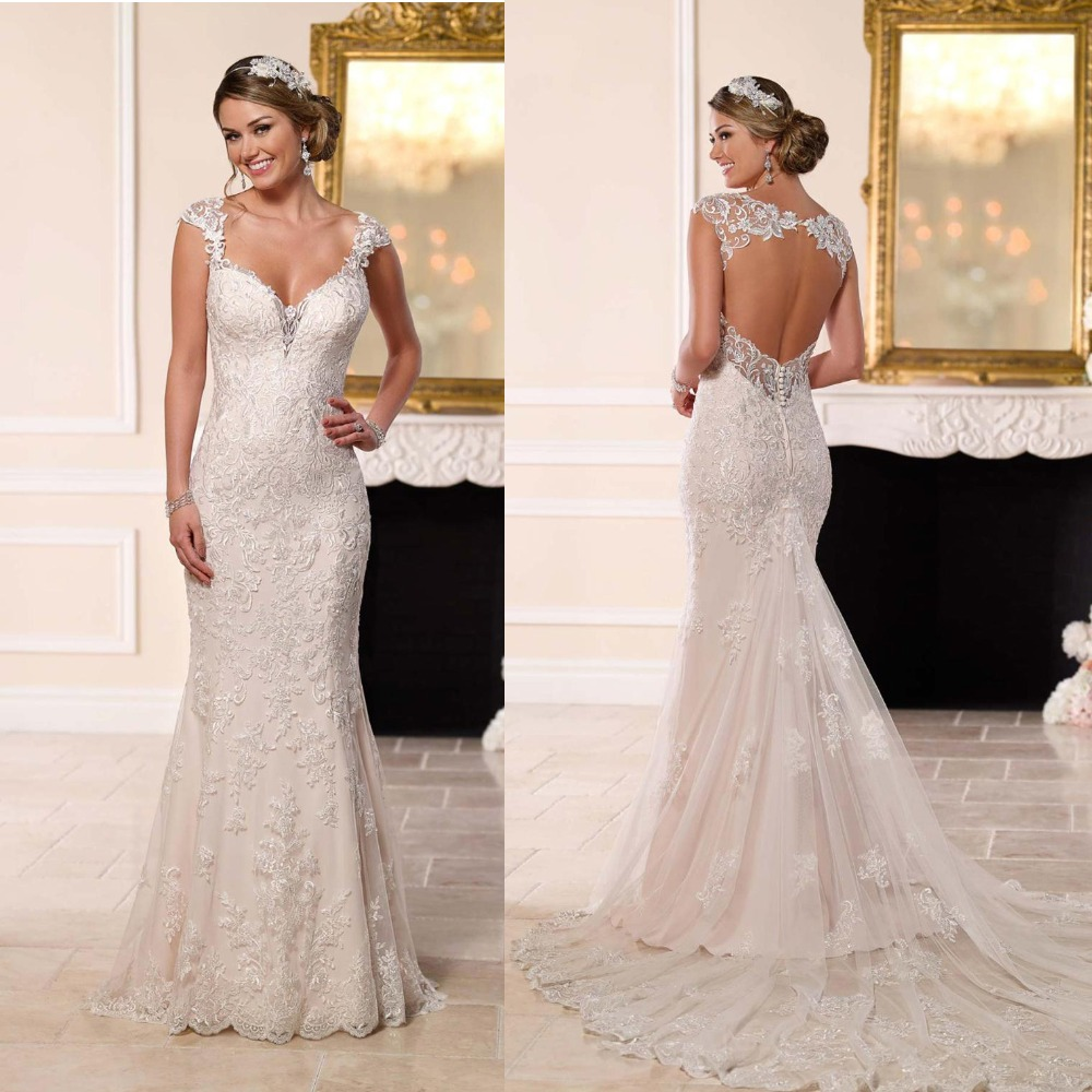 Sexy Backless Lace Mermaid Wedding Dresses 2019 New