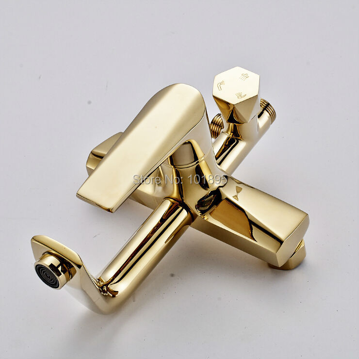 L16817 Wall Mounted Chrome Finishing Brass Material Exposed Shower Mixer
