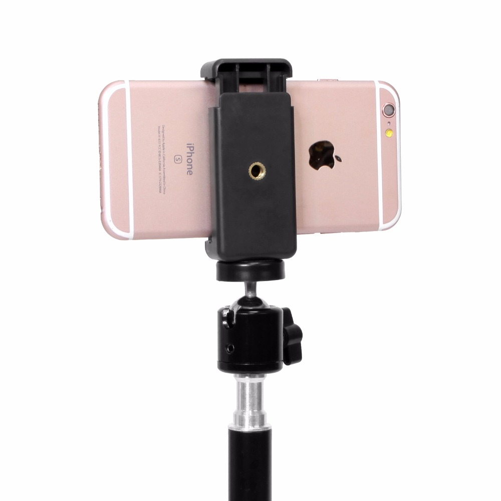 Universal Smartphone Holder Clip Mount Bracket Stands Selfie Stick For Tripod E-type Extendable Holder (6)