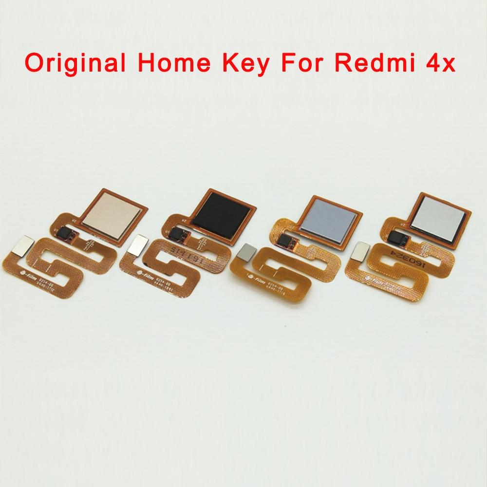 Original Home Key For Redmi 4x Return Button Fingerprint Sensor Flex Ribbon Cable Repair Phone Part
