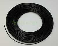 End light optical fiber cable solid fiber optics +cover for star ceiling decoration outdoor garden underwater lighting 3mmx350m