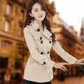 Мода 2016 женщин весна короткие пальто случайных ветровка slim тренч пальто для женщин верхняя одежда casaco feminino