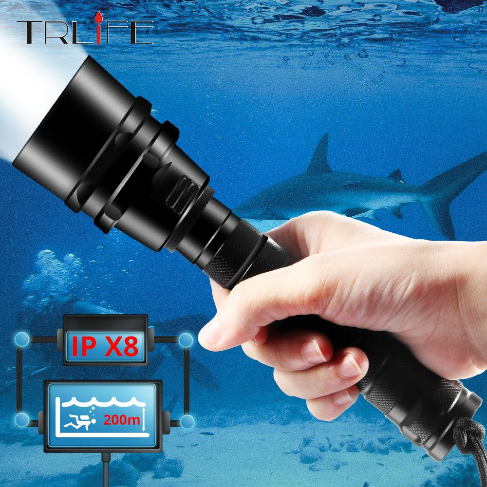 40000lums Professional Diving Flashlight XML-T6 L2 Portable Scuba Dive  torch 200M Underwater IPX8 Waterproof 18650 Flashlights