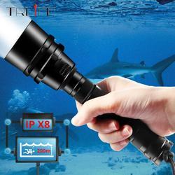 40000lums professionnel plongée lampe de poche XML-T6 L2 Portable plongée torche 200M sous-marine IPX8 étanche 18650 lampes de poche