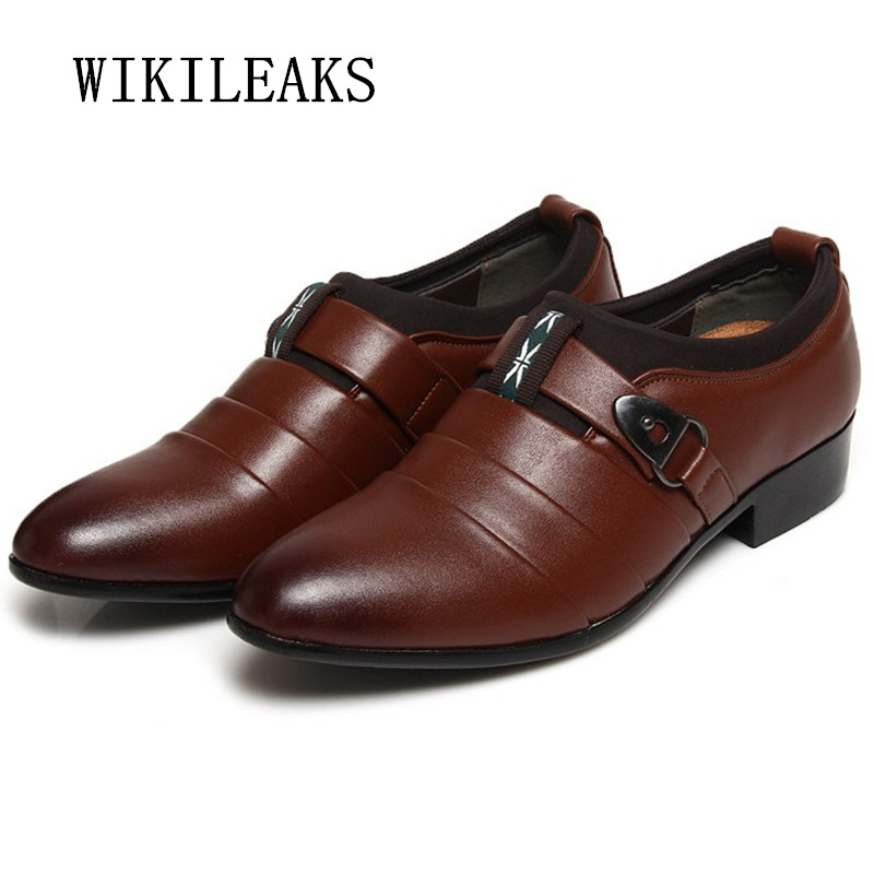 men shoes pointed toe leather shoes men wedding dress shoes 2018 italian formal oxford shoes for men zapatillas hombre vestir
