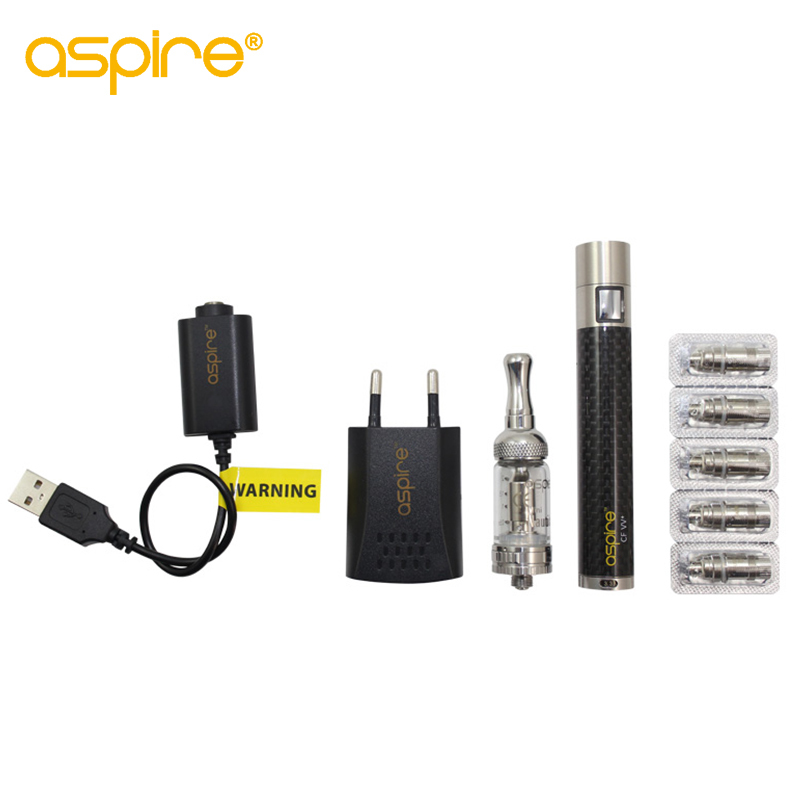 цена на Aspire Premium Kit Nautilus Mini BVC Tank Pyrex Glass BVC Atomizer 1000 mah CF VV+ Battery & 5 pcs 1.8 ohm coils