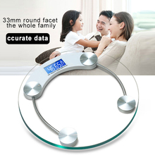 Weight Scale Electronic Weighing Scales Portable Round Shape Transparent Floor Smart Household LED Digital Display clique sc dylan 18 copy solid floor display