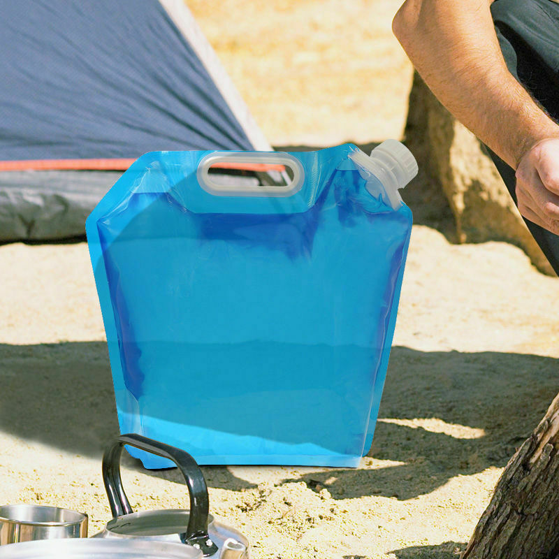 5L Foldable Drinking Container Storage Camping Ridding Water Bag Carrier Container Outdoor Camping Hiking Picnic Emergency Kits