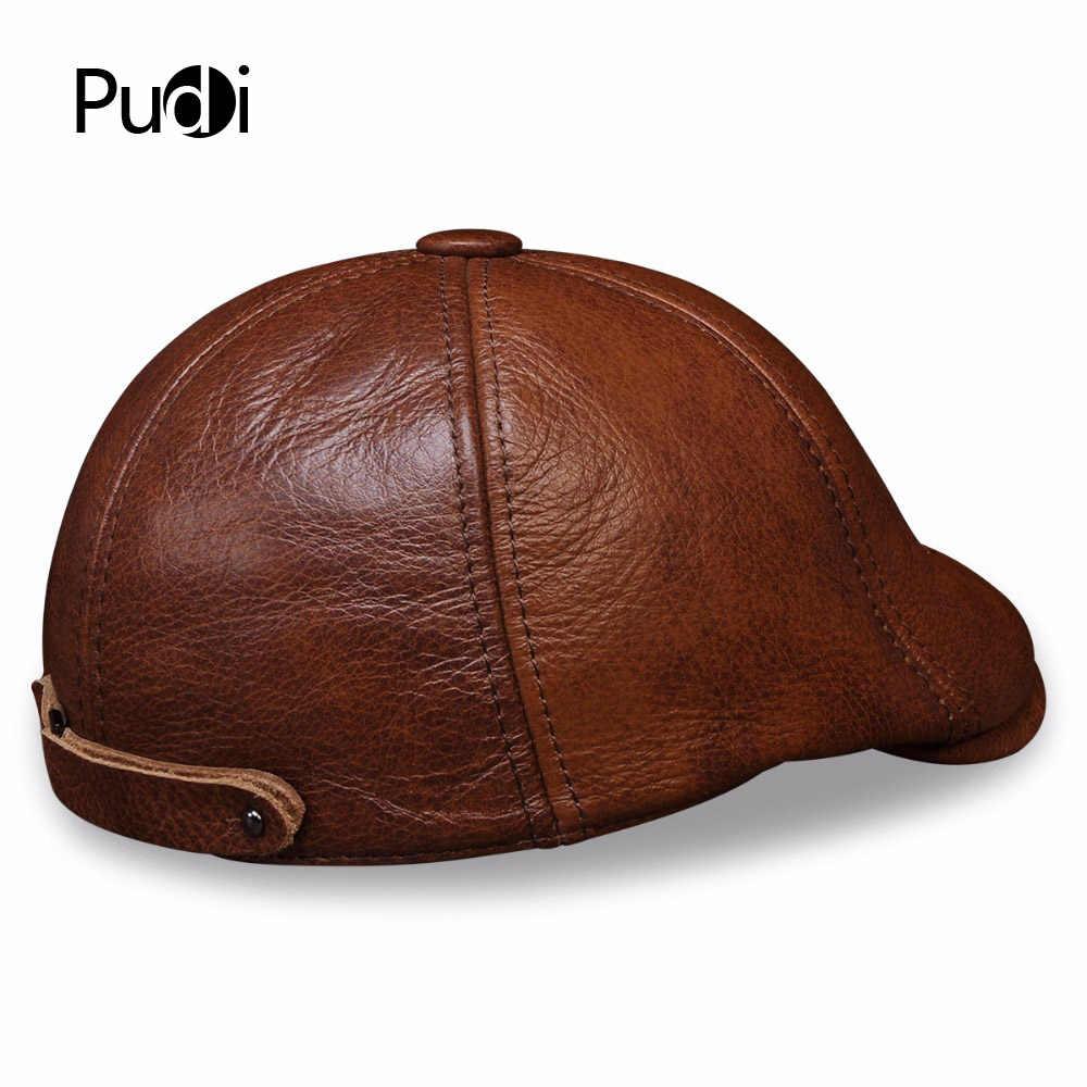 HL110 جلد أصلي للرجال قبعة بيسبول قبعة الرجال الجلد الحقيقي الكبار الصلبة قبعات قابلة للتعديل قبعات مع 3 ألوان