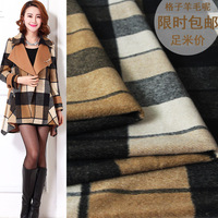Woolen Fabric Plaid Thickening Short Hair Short Autumn And Winter High End Clothing Fabric Coat Windbreaker