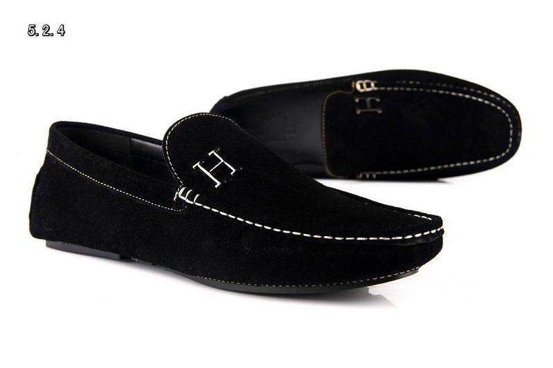 H Designer brand men leather shoes