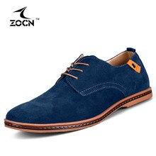 ZOCN Big Size 48 Men Shoes Casual Cow Split Leather Shoes Men Flats Black Men Casual Shoes Zapatos Hombre 10 Colours 2016