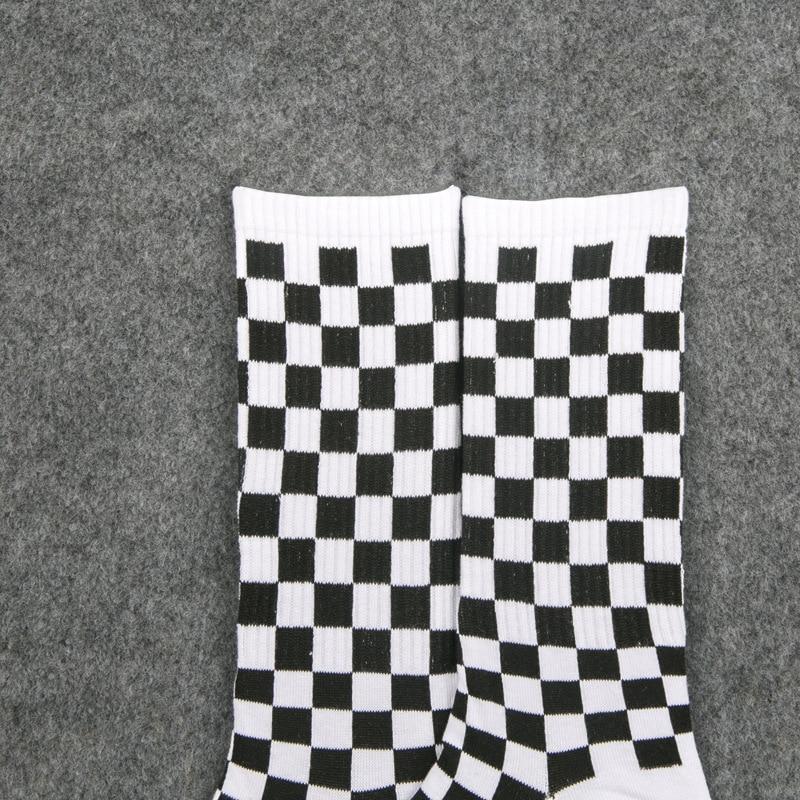 Image 5 - 1 pair of Harajuku casual men's socks plaid color trend socks national wind creative sports men's cotton socks-in Men's Socks from Underwear & Sleepwears
