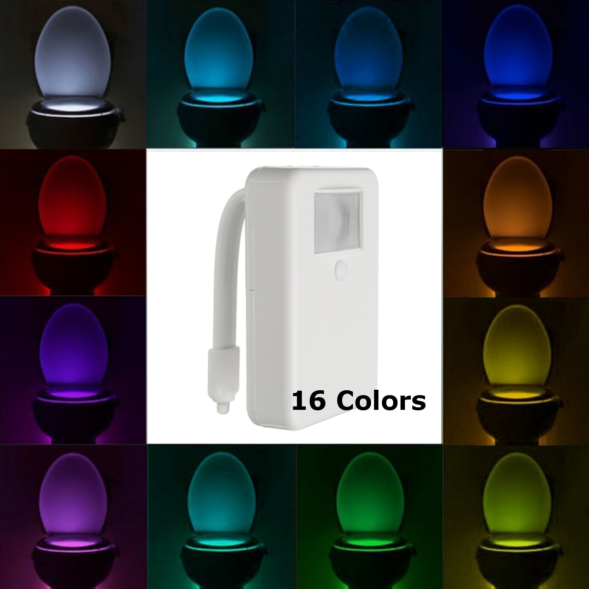 Motion Sensor Toilet Bowl Light Colorful Home Toilet Bathroom Motion Activated Dimmable LED Light Battery Operated Night Light