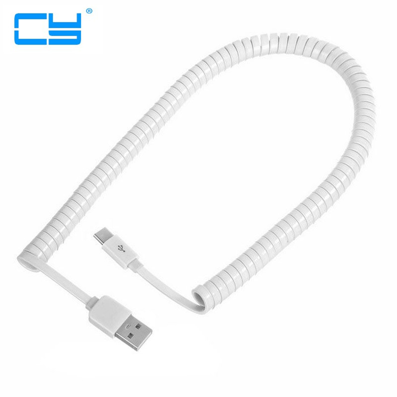 Trecho USBC USB-C 3.1 USB Tipo C para USB 2.0 A Macho Plana Slim Cabo de dados 250 cm 2.m para Tablet & Mobile Phone branco