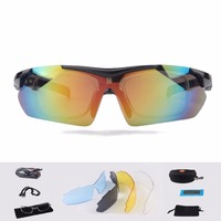 Polarize Güneş Gözlüğü 5 Lens Kit Rx Insert Anti-Uv Gece Görüş ile Esnek Gözlük Çerçeve Gözlük Dize Kafa Bandı