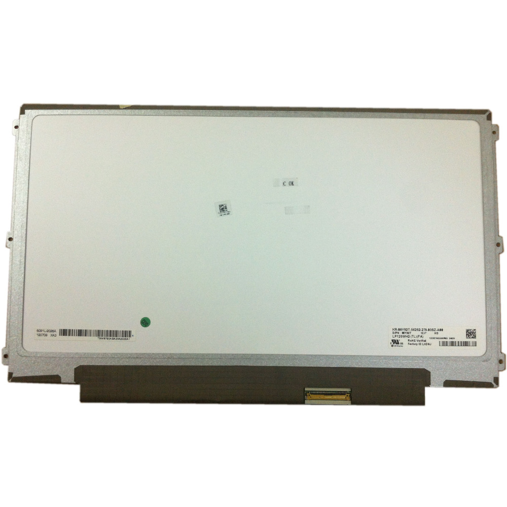 for <font><b>lenovo</b></font> U260 K27 K29 <font><b>X220</b></font> X230 laptop led screen 40pin <font><b>lcd</b></font> matrix LP125WH2 TLFA LP125WH2 (TL)(B1) LP125WH2 TLB1 image