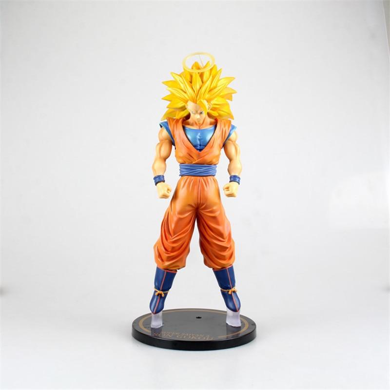 30 CM Dragon Ball limite Son Goku Super Saiyan 3 Portrait pleine longueur PVC 1/6 figurine à collectionner modèle coffre à jouets D341