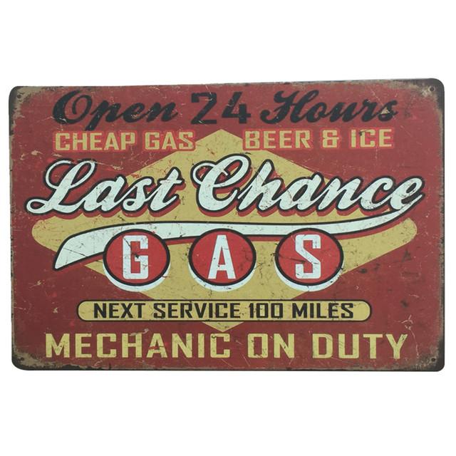 European And American Retro Iron Plaque