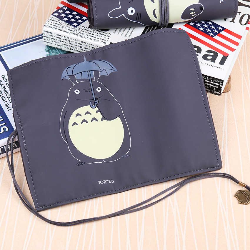 1 قطعة لطيف جارتي توتورو بولي Leather الجلود الإبداعية لفة ضمادة مقلمة حقيبة التخزين هدية القرطاسية اللوازم المكتبية المدرسية